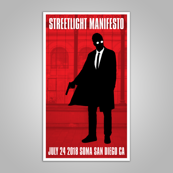 "Streetlight Manifesto ""Everything Goes Numb Tour SAN DIEGO"" Screen Print Poster (2018)"