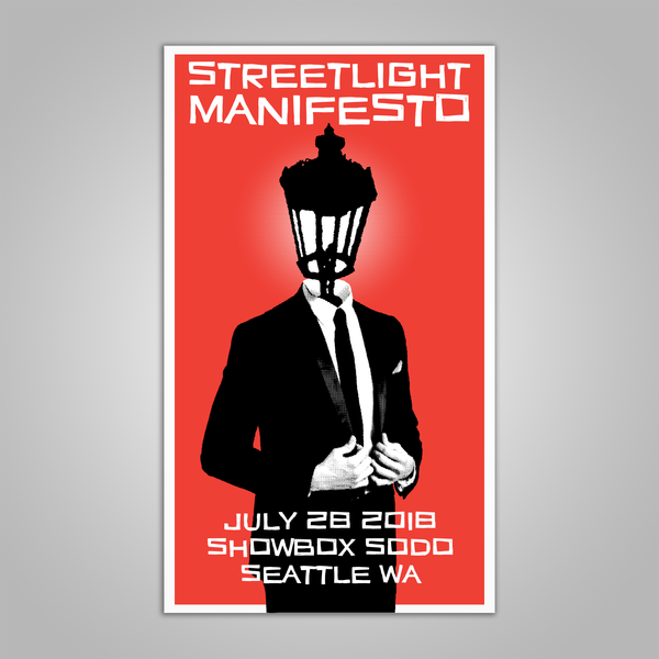 "Streetlight Manifesto ""Everything Goes Numb Tour SEATTLE"" Screen Print Poster (2018)"