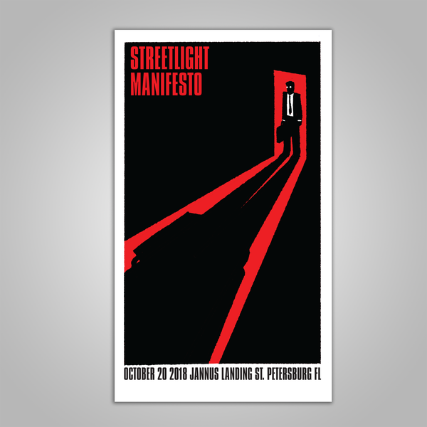 "Streetlight Manifesto ""Everything Goes Numb Tour ST. PETERSBURG"" Screen Print Poster (2018)"