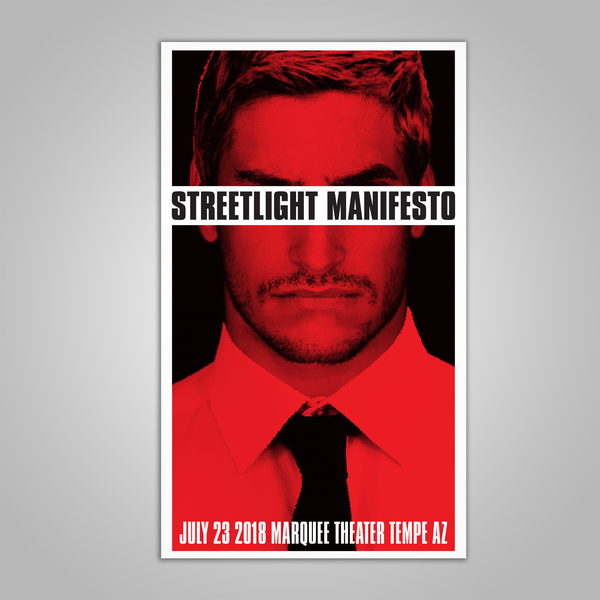 "Streetlight Manifesto ""Everything Goes Numb Tour TEMPE"" Screen Print Poster (2018)"