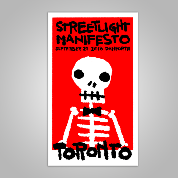 "Streetlight Manifesto ""Everything Goes Numb Tour TORONTO"" Screen Print Poster (2018)"
