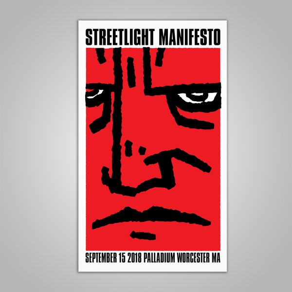 "Streetlight Manifesto ""Everything Goes Numb Tour WORCESTER"" Screen Print Poster (2018)"
