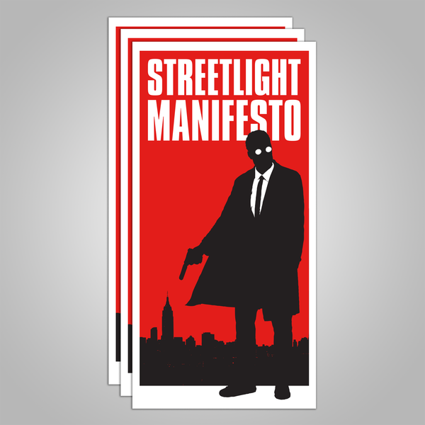 "Streetlight Manifesto ""Mystery Man Skyline"" Sticker 3-Pack (Sold Out)"