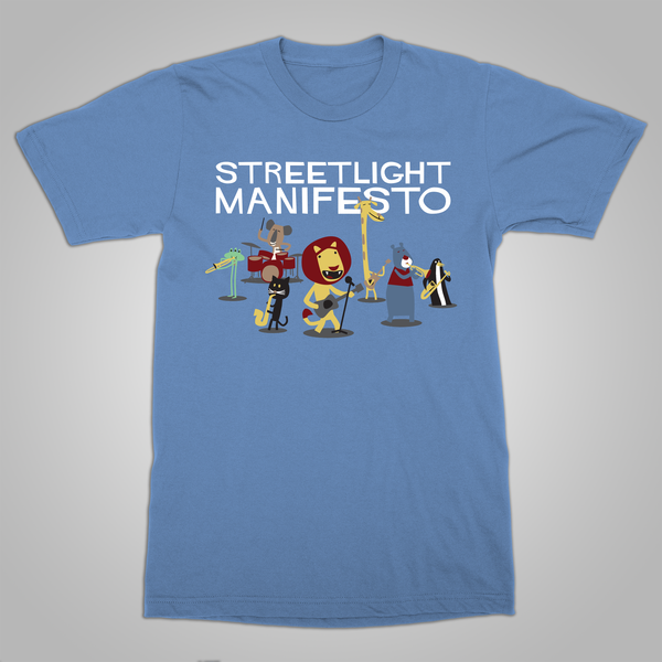 "Streetlight Manifesto ""Impressed Animals"" T-Shirt (Blue)"