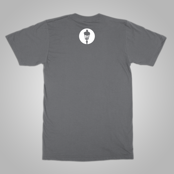 "Streetlight Manifesto ""Mystery Man Skyline"" T-Shirt (Grey)"