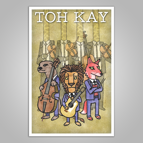 "Toh Kay ""Trio with Quartet"" Tour Poster"