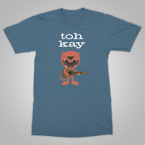 "Toh Kay ""Macavity Acoustic Cat"" T-Shirt (Blue)"