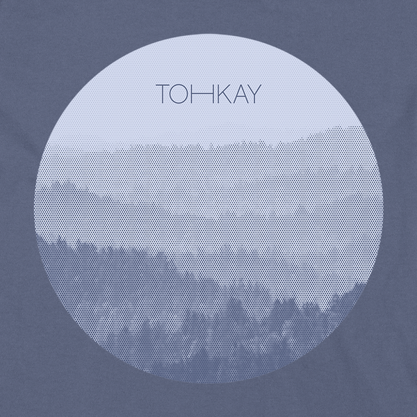 "Toh Kay ""Forest"" Pullover Hoodie (Blue)"