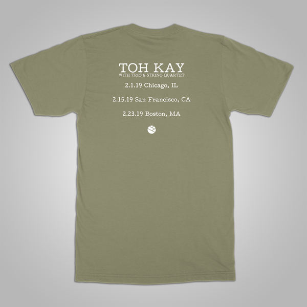 "Toh Kay ""Trio & String Quartet Tour"" T-Shirt (Olive)"