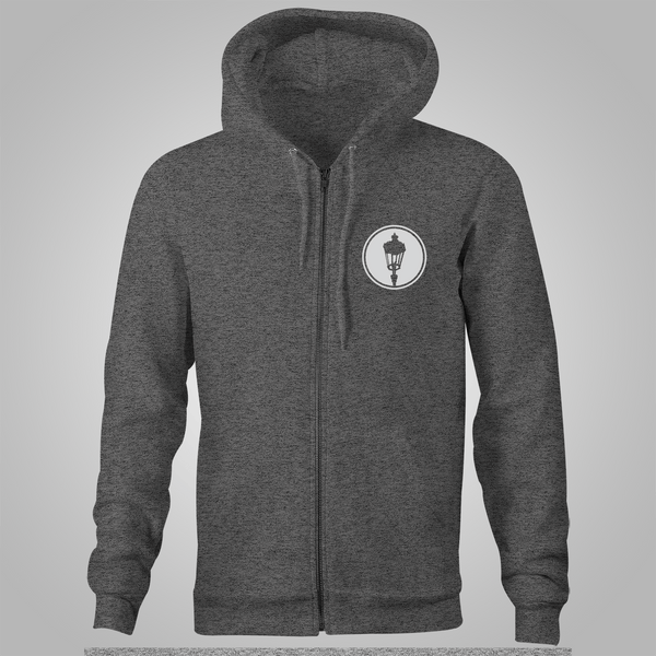 "Streetlight Manifesto ""Panther"" Zip-Up Hoodie (Heather Grey)"
