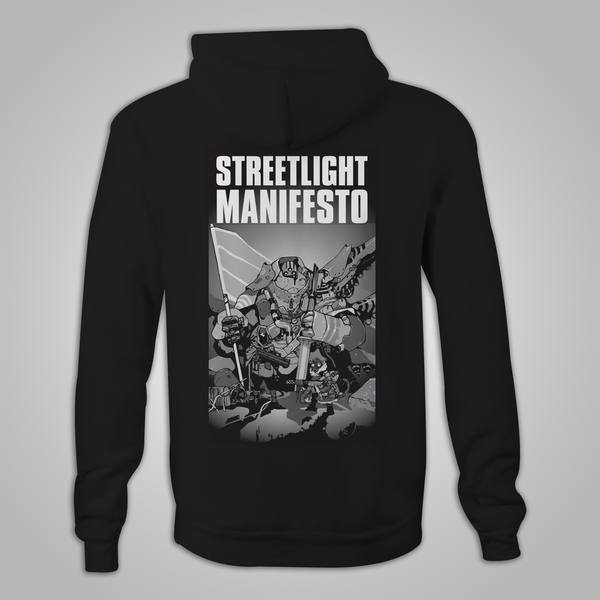 "Streetlight Manifesto ""Somewhere In The Between Tour"" Zip-Up Hoodie (Black)"