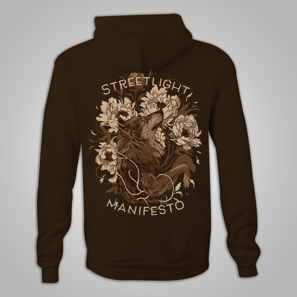 "Streetlight Manifesto ""Wolf"" Zip Hoodie (Brown)"