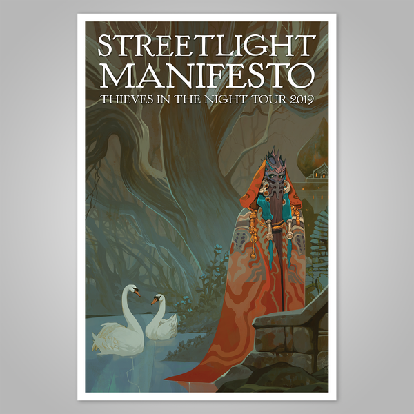 "Streetlight Manifesto ""Thieves in the Night Tour"" Offset Poster (2019)"