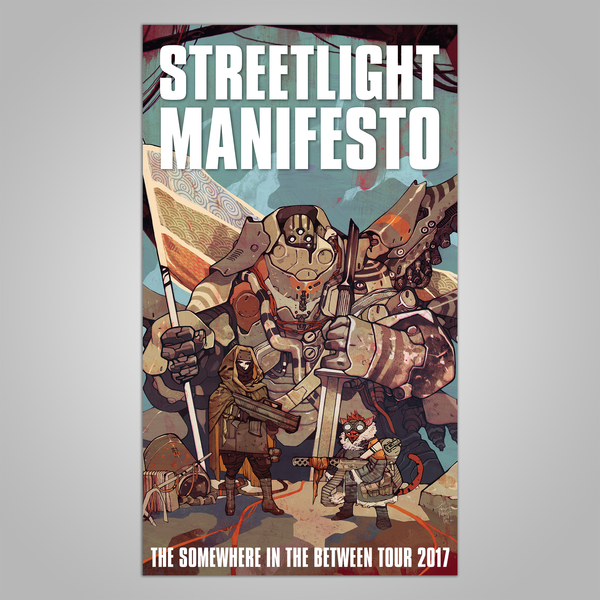 "Streetlight Manifesto ""Somewhere In The Between Tour"" Poster (2017)"