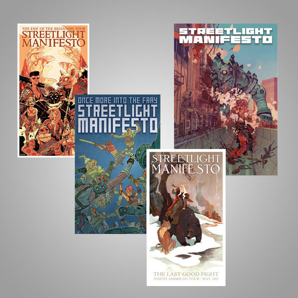 "Streetlight Manifesto ""Tour Poster Collection"" (4 Posters)"