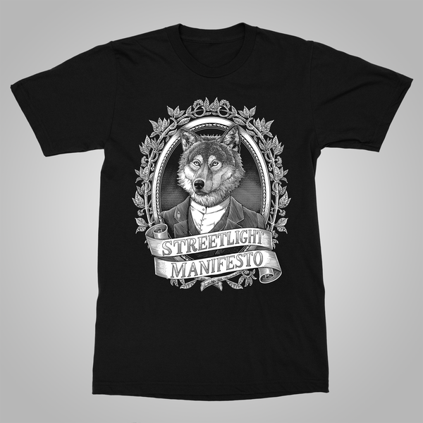 "Streetlight Manifesto ""Dapper Wolf"" T-Shirt (Black)"