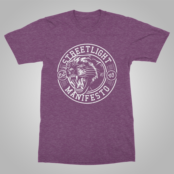 "Streetlight Manifesto ""Panther"" T-Shirt (Heather Purple)"