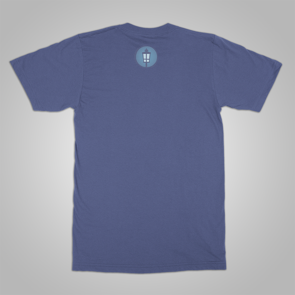 "Streetlight Manifesto ""Cat Crest"" T-Shirt (Blue)"