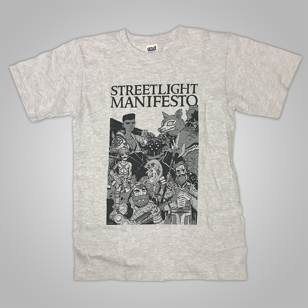 "Streetlight Manifesto ""End of the Beginning Tour-Leg One"" T-Shirt (Heather Grey)"