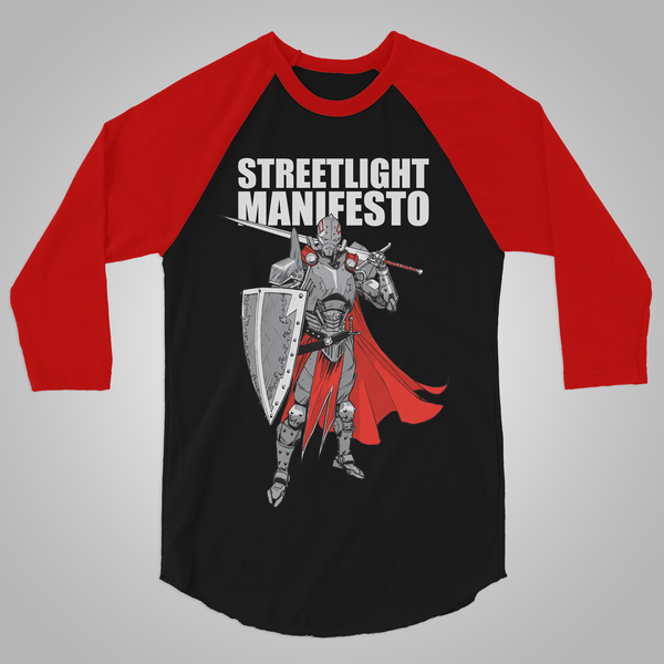 "Streetlight Manifesto ""Knight Baseball"" T-Shirt (Black & Red)"