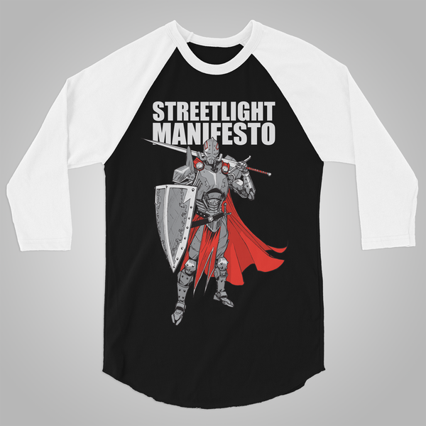 "Streetlight Manifesto ""Knight Baseball"" T-Shirt (Black & White)"
