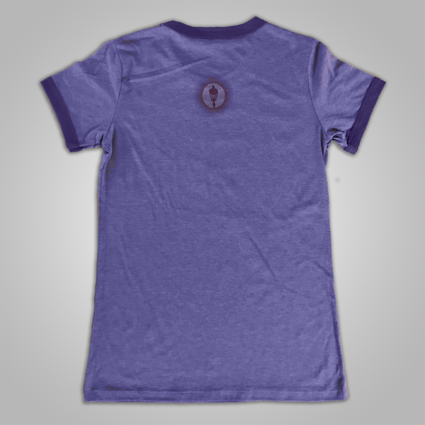 "Streetlight Manifesto ""Tiger"" Womens Ringer T-Shirt (Purple)"