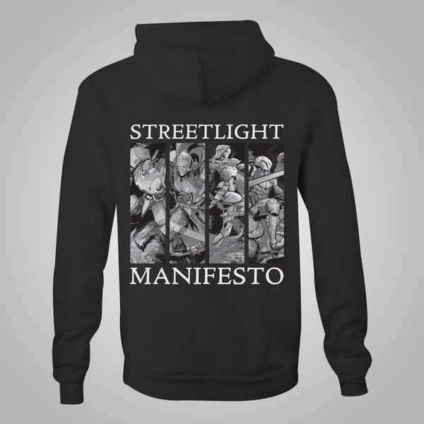 "Streetlight Manifesto ""Year with No End Tour"" Zip-Up Hoodie (Black)"