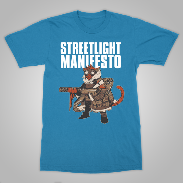 "Streetlight Manifesto ""Rebelka Battle Cat"" T-Shirt (Sapphire Blue)"