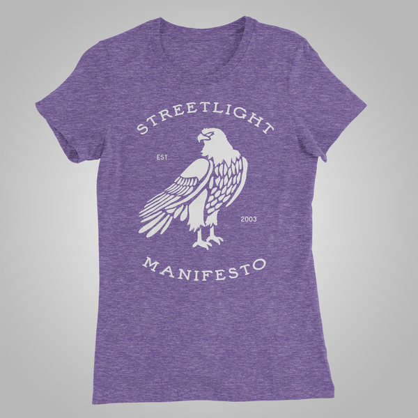 "Streetlight Manifesto ""Eagle"" Womens T-Shirt (Heather Purple) SOLD OUT"