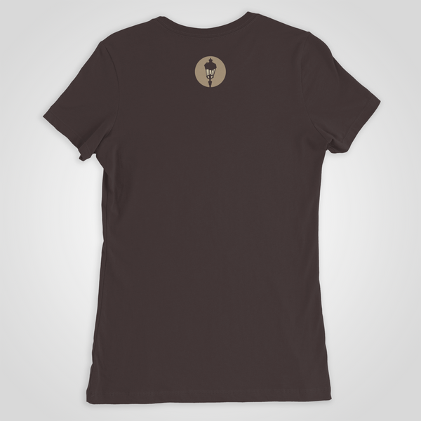 "Streetlight Manifesto ""Women's Wolf"" T-Shirt (Brown)"