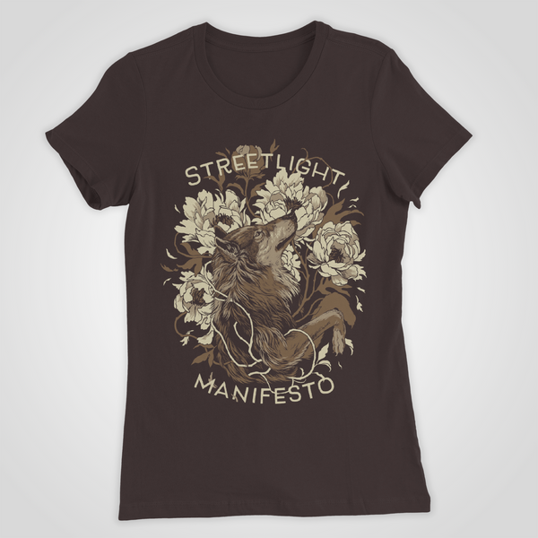 "Streetlight Manifesto ""Women's Wolf"" T-Shirt (Brown) (Sold Out)"