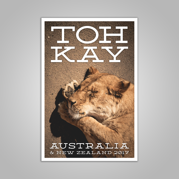 "Toh Kay ""Australia & New Zealand"" Tour Poster"