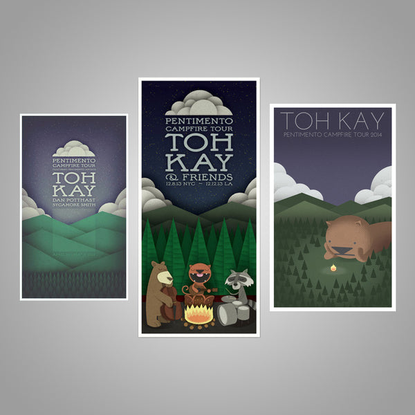 "Toh Kay ""Pentimento Campfire Tour Poster Collection"""
