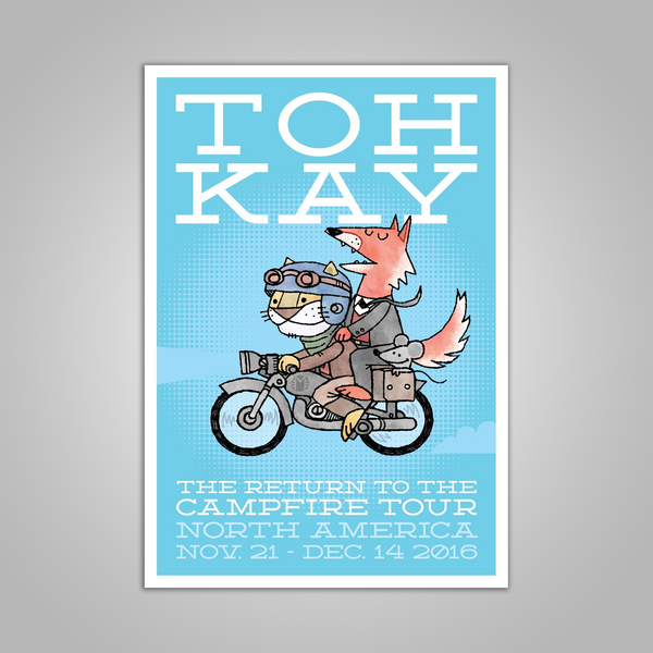"Toh Kay ""The Return to the Campfire"" Tour Poster"