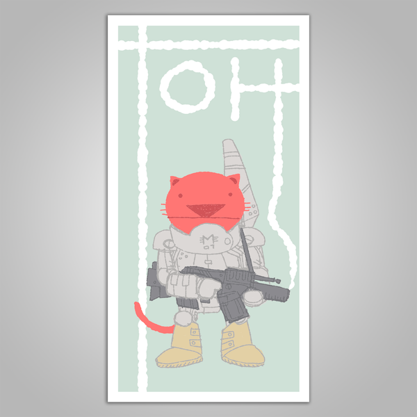"Toh Kay ""Battle Cat"" Signed Screen Print Poster"