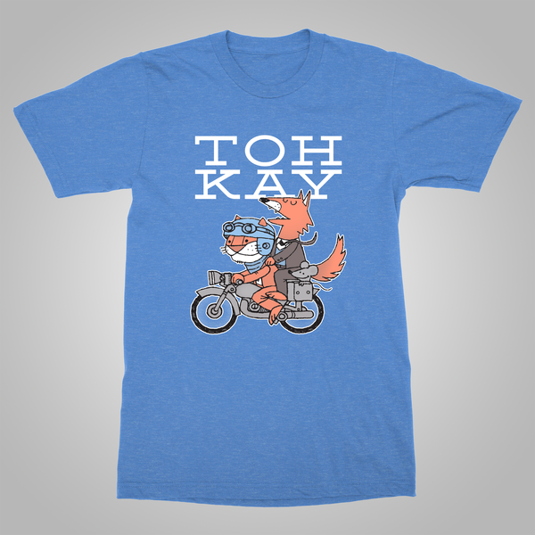 "Toh Kay ""The Return to the Campfire Tour"" T-Shirt (Heather Blue)"