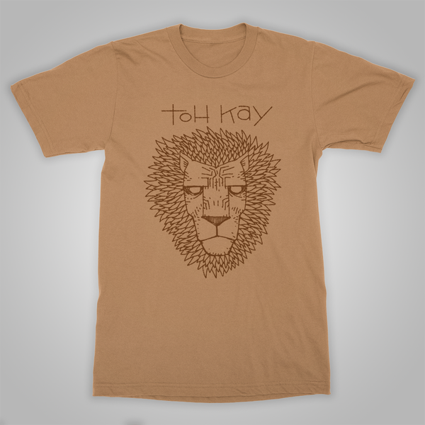 "Toh Kay ""Lion Face"" T-Shirt (Old Gold)"