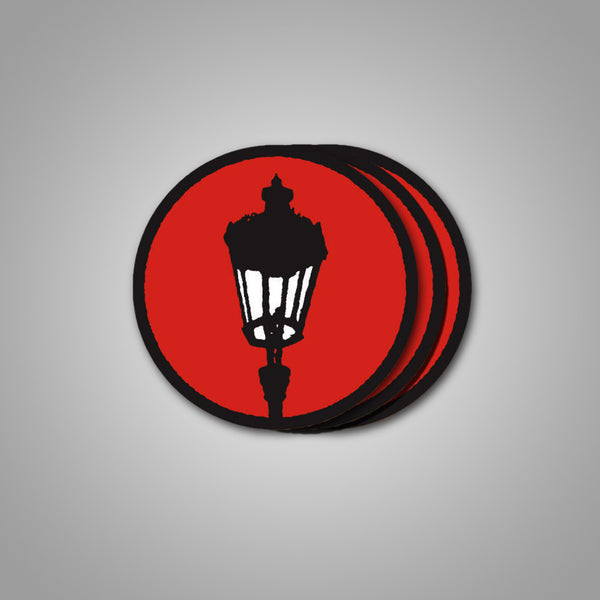"Streetlight Manifesto ""Streetlamp"" Sticker 3-Pack (Red)"