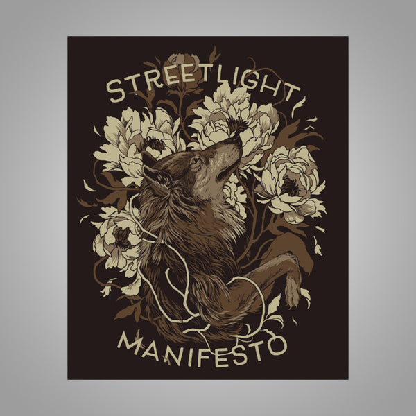 "Streetlight Manifesto ""Wolf Screenprint"" Poster (Brown)"