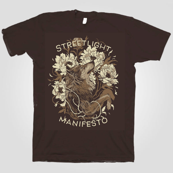 "Streetlight Manifesto ""Wolf"" T-Shirt (Brown)"
