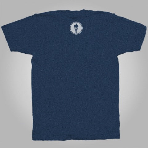"SOLD OUT Streetlight Manifesto ""Calligraphy"" T-Shirt (Heather Navy)"