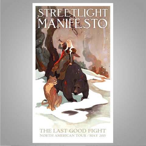"Streetlight Manifesto ""Last Good Fight Tour"" Offset Poster (2015)"