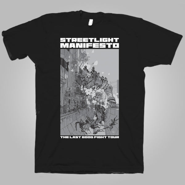 "Streetlight Manifesto ""Last Good Fight Tour - Leg Two"" T-Shirt (Black)"
