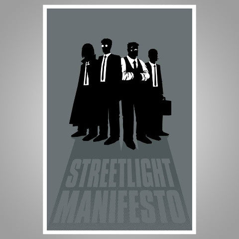 "Streetlight Manifesto ""Silhouette Gang"" Screenprint Poster"