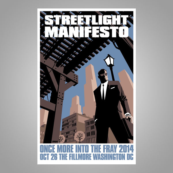 "Streetlight Manifesto ""Into The Fray Tour WASHINGTON DC"" Screen Print Poster"