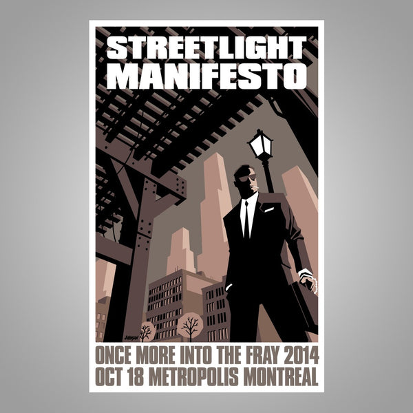 "Streetlight Manifesto ""Into The Fray Tour MONTREAL"" Screen Print Poster"