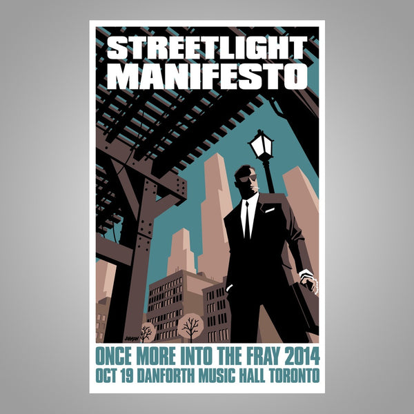 "Streetlight Manifesto ""Into The Fray Tour TORONTO"" Screen Print Poster"