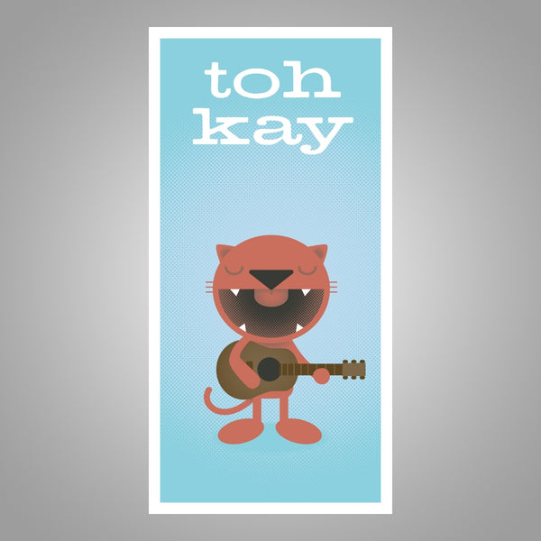 "Toh Kay ""Macavity Cat"" Screen print Poster"