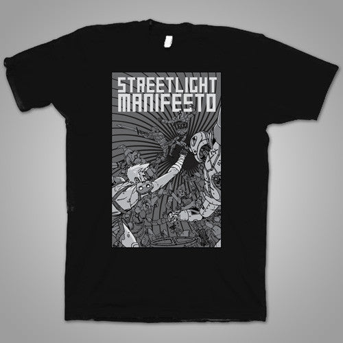 "Streetlight Manifesto ""Once More Into The Fray Tour"" T-Shirt (Black)"