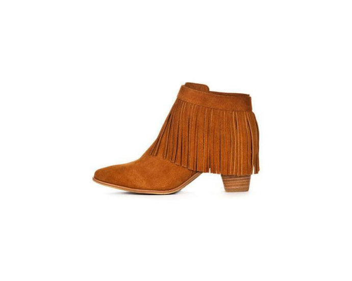 Tan Suede Leather Ankle Boot